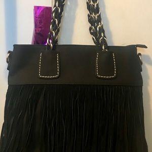 Handbags - Black Fringed purse